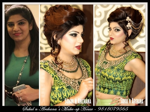 Looking For Best Bridal Makeup Artist in North Delhi check in at Sukul n Archanas Makeup House.   Sukul n Archana are one of the most reputed and professional bridal makeup artists for 10 years. They'll provide best makeup services to complement your entire appearance. Their efficient makeup skills and rich experience plays a big part in providing a distinct and princess like look for the event.  Official Website www.makeuphouse.co.in Facebook Page at sukuldevsmakeuphouse