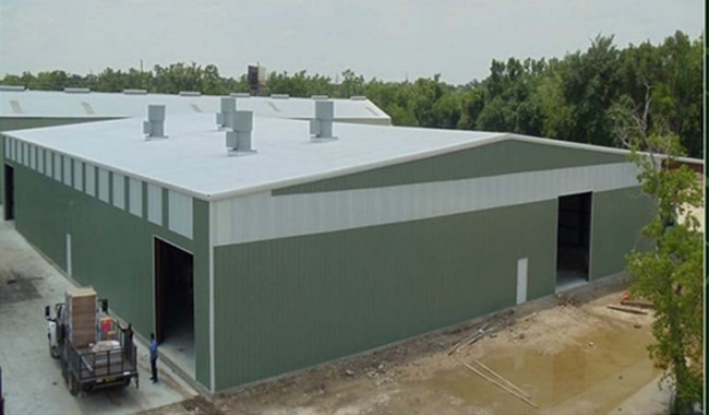Industrial Sheds. Pre Engineered Building with complete civil work. We are professional industrial building manufacturer with expertise in civil works, industrial buildings, and complete turnkey project for the same.