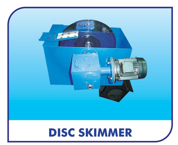 Disc Skimmers are used in applications where the variation in water level are low and collection thanks are smaller – such as Cleaning Machines & De greasing Baths