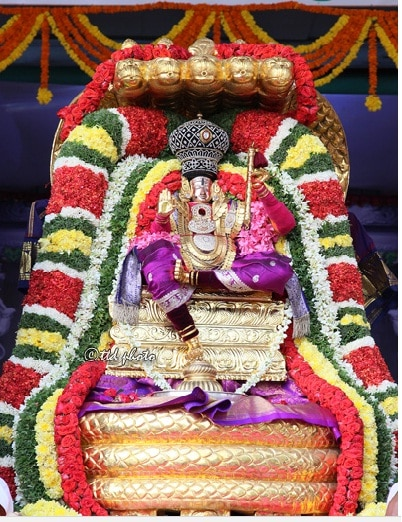 Tirupati Darshan Online Booking  Chennai to Tirupati Tour Operators Daily trips to Tirupati with Rs300 special entry online darshan ticket Contact 7299022422 , 7299449999 , 7299922422 Email : viswambaratravels@gmail.com WhatsApp Number : 7299922422  For more information  visit:- http://www.tirupatibalajidarshanonline.in/  Srinivasa Mangapuram News 17 February 2017: On the second day of the ongoing annual brahmotsavams in Sri Kalyana Venkateswara Swamy temple at Srinivasa Mangapuram, the Lord took celestial ride on Chinnasesha Vahanam on Friday morning.  Chinna Sesha Vahanam-the charm of the five hooded golden snake enhanced when lord took celestial ride under its hood and blessed the devotees. The Chinna Sesha Vahanam is often considered as the symbolic representation of Serpent God Vasuki. The devotees were mused by the divine sight of Lord on Chinna Sesha Vahanam.