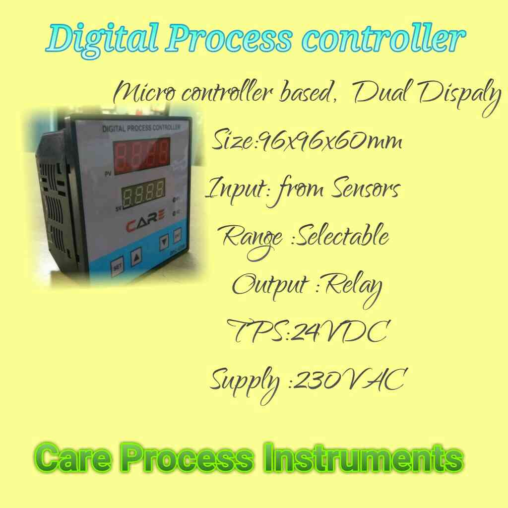 We are manufacturer of  Digital process controller with Universal Input,  TPS supply. Dual Dispaly.