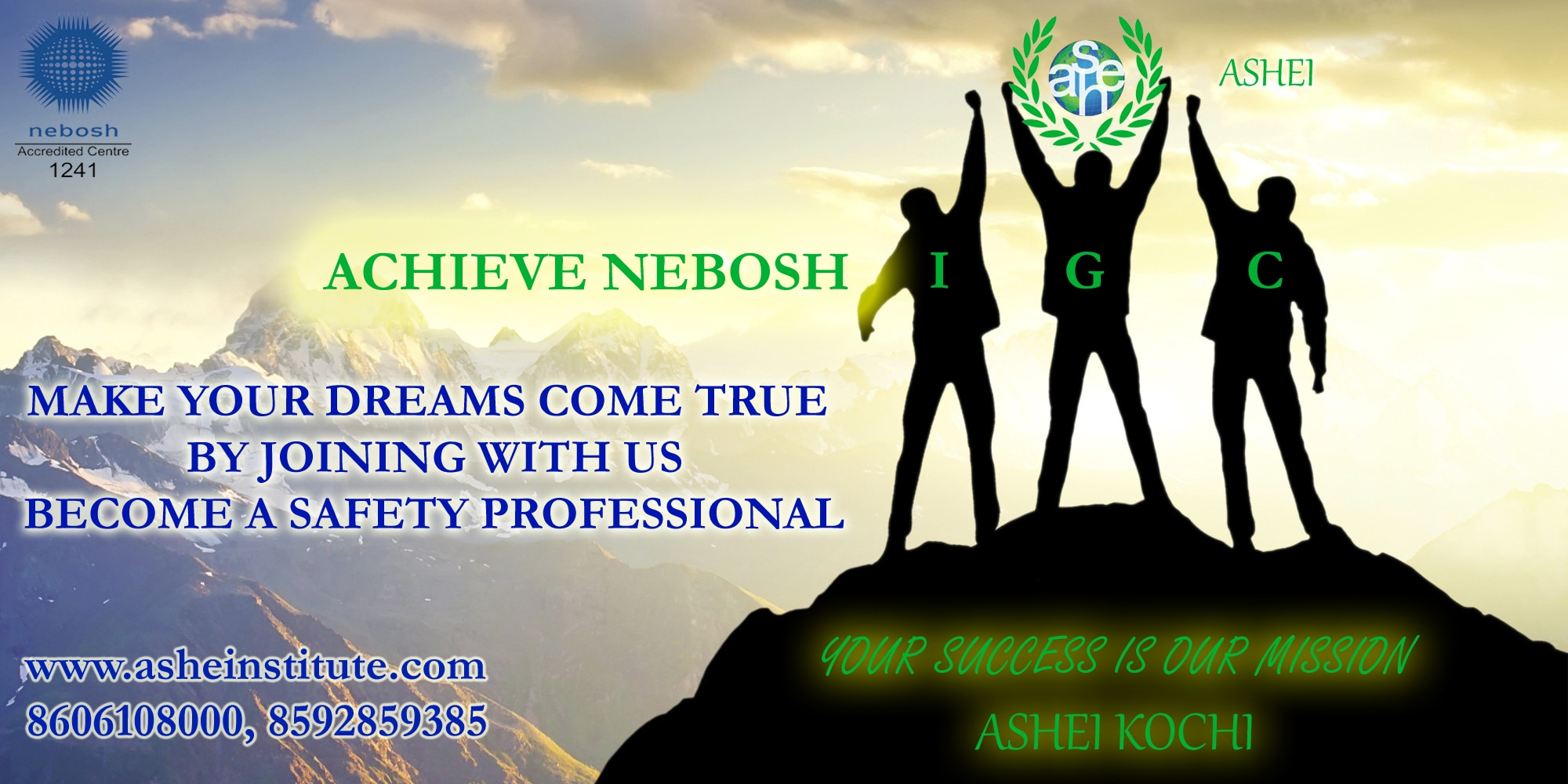 Safety Courses in Kerala! NEBOSH IGC, HSW, IOSH, IADC, OHSAS, CIEH, Medic First Aid, BSC IDIP courses............  https://plus.google.com/u/1/112243300282520816687/posts/Zctt1zpVGwS