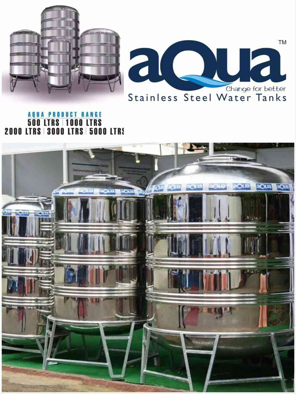 aQua stainless steel tanks  Ss tanks , stainless steel tanks , steel tanks , steel water tanks , steel tanks