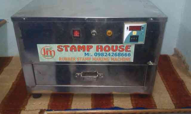rubber stamp making machine in steel body with 4 tube