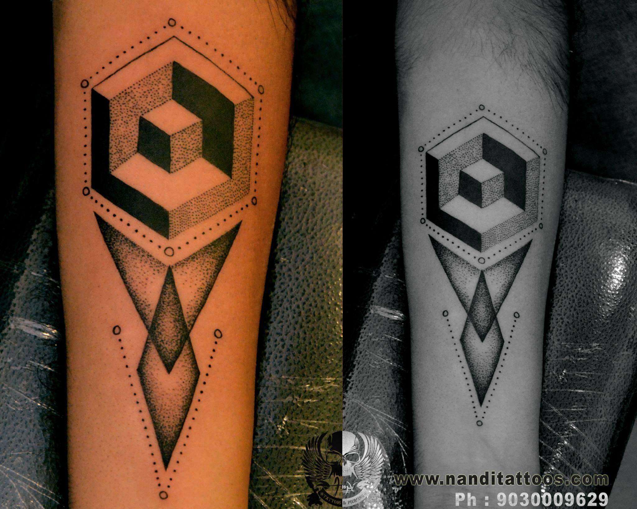 Geometric Tattoo on