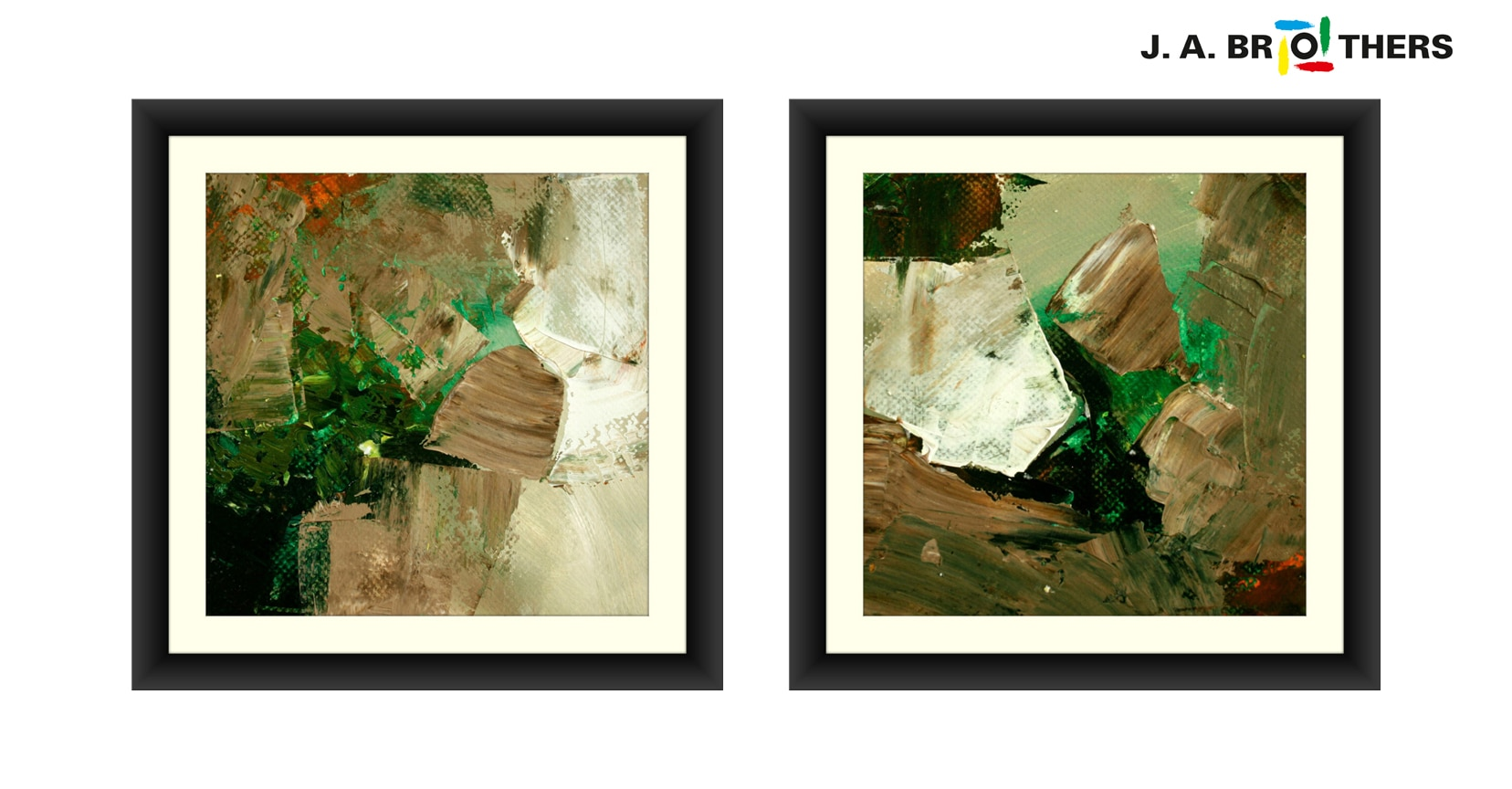 ABSTRACT ART 2522205 & 2522206 PRINT ON CANVAS EACH SIZE: 18