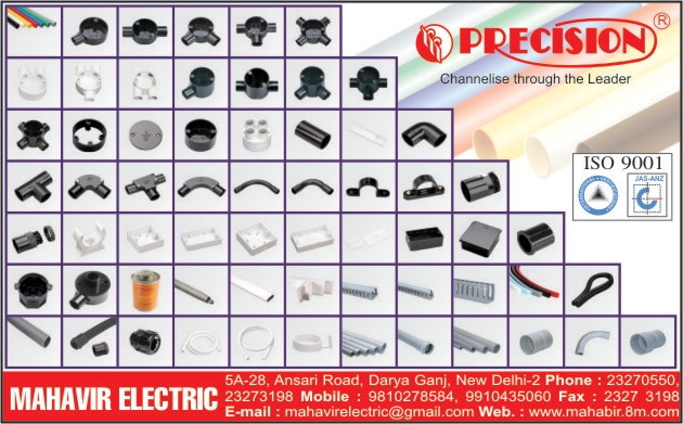 We are the distributors of Precision Pvc Pipe in Delhi , we have all types of FRLS Pipes , low halogen pipes. All pipes are available in choice of color as per your need.  Rigid Pvc frls pipe available in all colors on made to order basis.  PRECISION DELHI PRECISION PVC PIPE RIGID UPVC PIPE DELHI PRECISION PVC CONDUIT PIPE MAHAVIR ELECTRIC