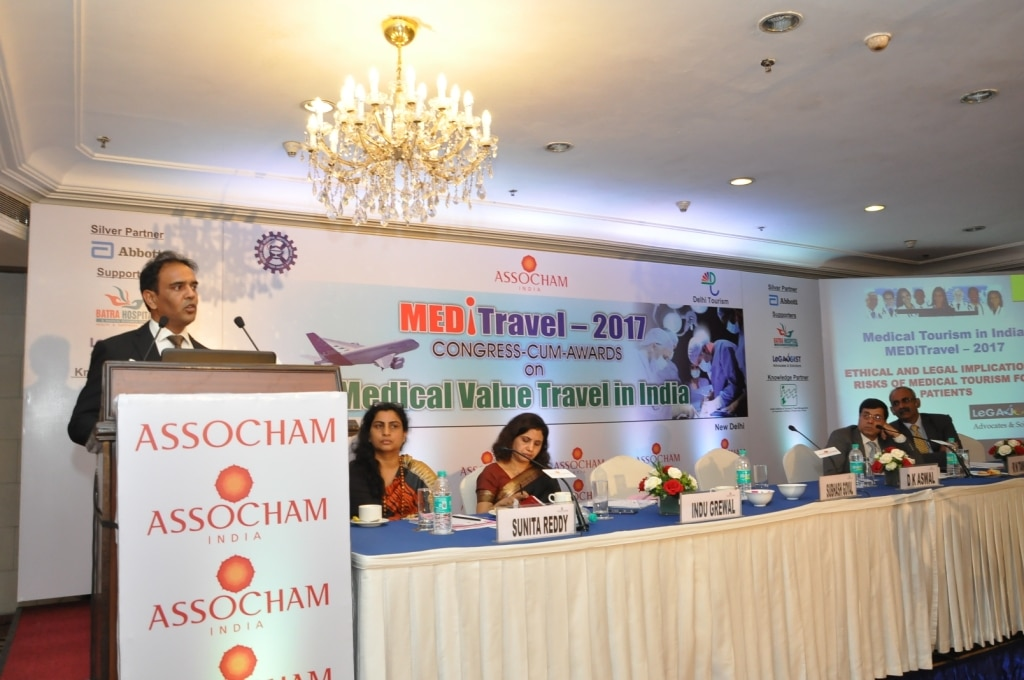 I represented Legajoist – Advocates & Solicitors, as a speaker in a conference organized by ASSOCHAM in Delhi on Meditravel 2017. The focus was to deliberate on challenges in Medical Tourism in India. Despite having best medical facilities in the world, India has only 2% market share in this segment. I spoke on legal and ethical practices around this domain. There are enough laws to cover medical negligence, malpractices in medical field, compensation for wrong treatment, prohibited activities etc. I pointed out the proactive role of Indian Medical Association (IMA), Ministry of Health & Family Welfare, and  other Regulators in taking up issues of public interest. The Govt. of India is also actively promoting this vertical through various plans and policies. in order to protect their interest, the Medical Practitioners are required to maintain complete records and remain fair and transparent, and deploy best legal professionals in case manage legal battle. Hon'ble Supreme Court of India has commented that 'The practitioner must bring to his task a reasonable degree of skill and knowledge and must exercise a reasonable degree of care. Neither the very highest nor a very low degree of care and competence is what the law requires.'