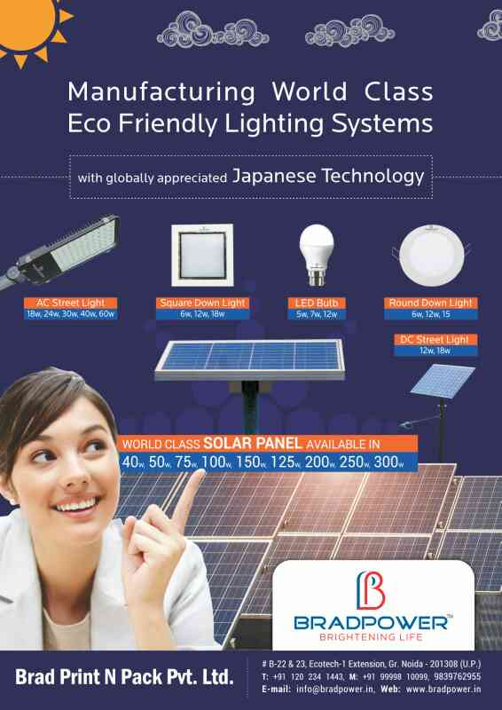 BRADPOWER SOLAR PANEL ARE THE BEST IN INDIA. NOW THEY ARE GREATLY APPRECIATED IN GLOBAL MARKET ALSO.  FOR MORE INFO WWW.BRADPOWER.IN
