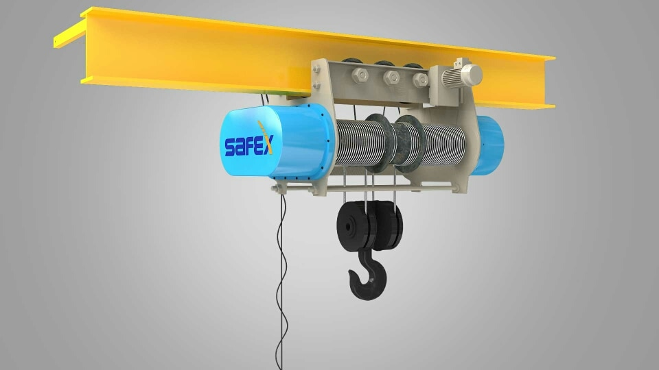 Safex India, has always been the Expert and Popular in the field of Material Handling equipments manufacturer, Keeping the quality and performance in mind safex manufactures Wire Rope Hoist ( Chain Hoist ) This Wire Rope Hoist have the efficiency of lifting heavy goods and require very less maintenance.   For more details on purchase and Installation   Drop your message below.