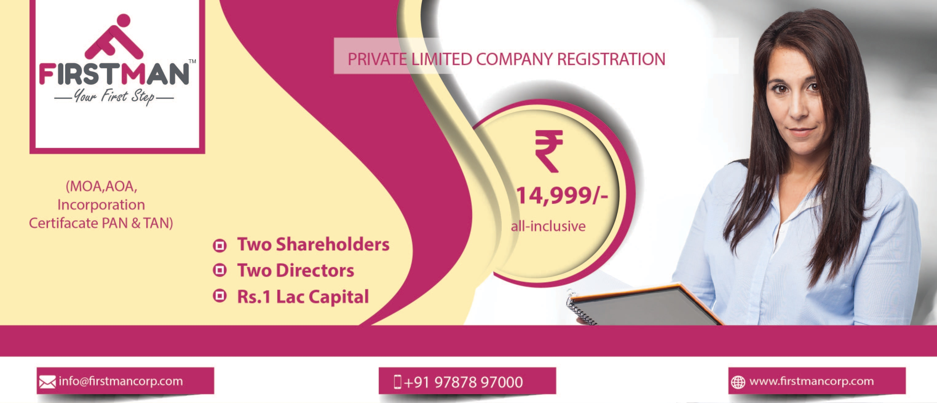 "Private Limited Company is ""Limited by Shares"" i.e. there are shareholders associated with the company and the theoretical value of the shares & any paid in return for the issue of shares by the corporation is limited to the capital which is initially invested.   ADVANTAGES OF PRIVATE LIMITED COMPANY   Private limited company is the most popular corporate entity amongst small, medium and large businesses in India due to various advantages.  •	Ideal for Startups & Growing Business  •	Easy to Get Funding, Raise Venture Capital Fund, Additional capital can easily be raised by selling shares  •	Member's liability is restricted to the amount of shares they own. They have limited liability  •	Members are well known to each other; however control is in the hands of owners of capital.  •	In the management of affairs and conduct of business is greater flexibility.  •	The number of directors in a private limited company is at least two.  •	Private limited company is that its limited liability, due to which every members enjoy this facility. It has the advantage of a public company and a partnership firm.  •	A private company after receiving certificate of incorporation start business immediately.  •	The company can continue to trade even if one of its member's dies  •	Shares can be bought and sold with director's approval  •	The private company has a separate legal existence from that of its owners. It can own property and sue and be sued  •	This type of organisation has a much higher business status than a sole trader   DISADVANTAGES OF PRIVATE LIMITED COMPANY   One of the disadvantages of private limited company is that it restricts transferability of shares by its articles.  •	In a private limited company the number of members in any case cannot exceed200.  •	Another disadvantage of private limited company is that it cannot issue prospectus to general public.  •	In stock exchange shares cannot be quoted. Audited annual returns and accounts have to be made to the Registrar of Companies. All these documents are available for public inspection  •	A private limited company id more expensive and time consuming to set up than a sole trader or partnership  •	Professional help will be needed to set up a private limited company  •	There is separation of ownership and control which means that the owners no longer make all the decisions Start your Private Limited with firstmancorp.com because we serve you beyond your satisfaction.  Siva Subramanian C FirstMan Corporate Services LLP Chennai - India +91 97878 97000"