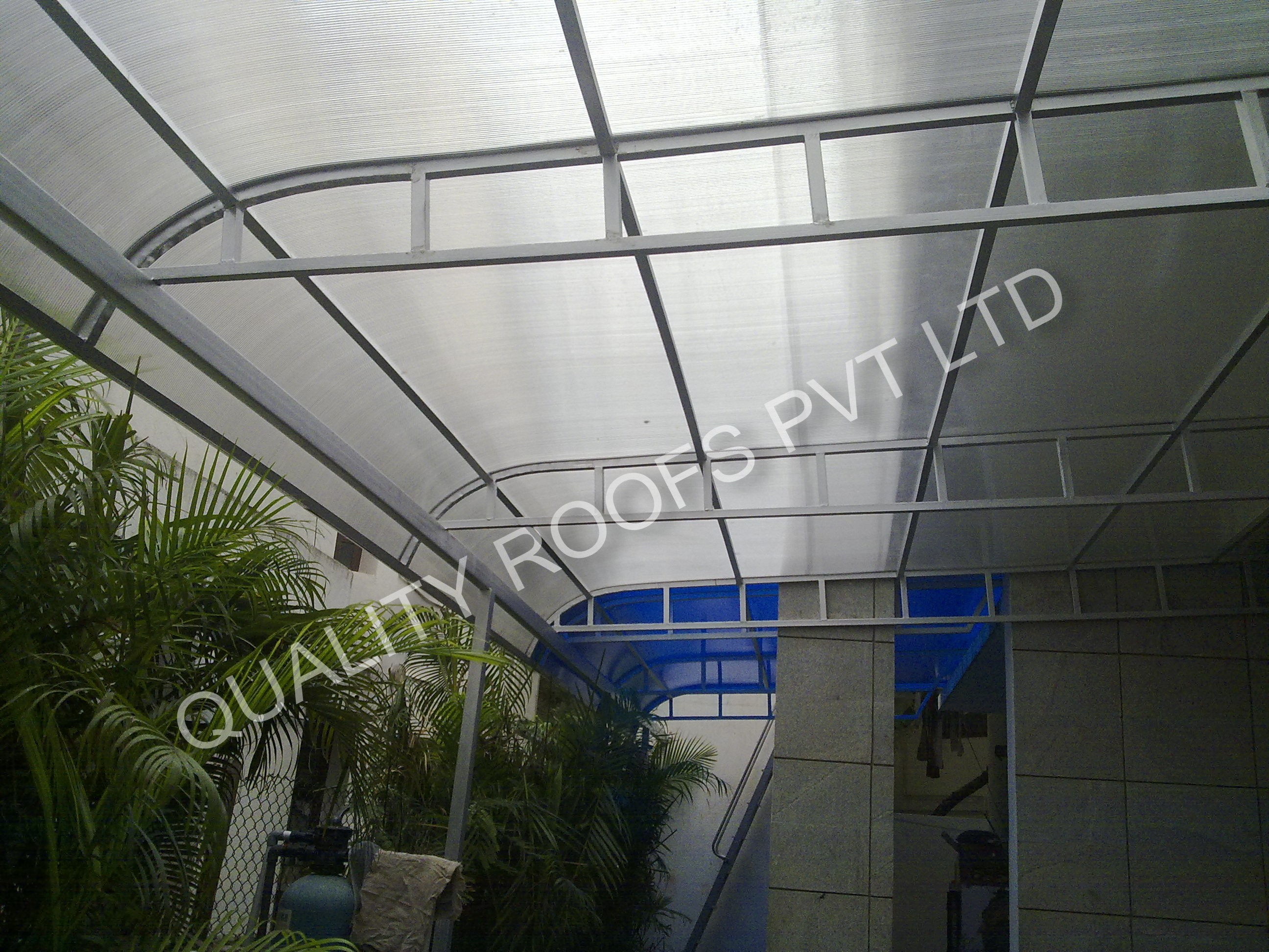 Polycarbonate Roofing Chennai                 We are the Leading Polycarbonate Roofing Chennai. Our organization has been engaged in the trading and supplying a quality range of Polycarbonate Roofing sheets. These sheets have proven to versatile and efficient in all domestic and industrial applications like banks, coffee shops, hotels, public spaces, banks, hospital etc. Our sheets serve excellently for the purpose of insulation and help in moderating the temperature. They also feature excellent reflective properties. Easy installation and low maintenance makes our Polycarbonate Roofing sheets an ideal choice for porches, dormer windows, Skylights and commercial spaces.