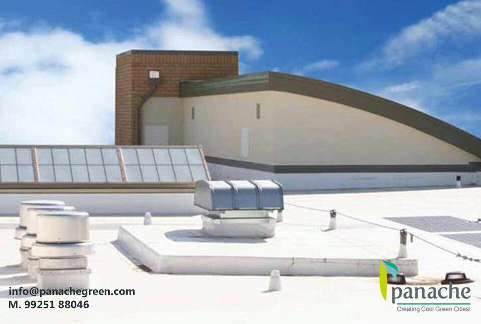 #Panachegreen offer the cool roofing services in India,    A cool roof can benefit a building and its occupants by:  1. #Reducing #energy #bills by decreasing air conditioning needs. 2. Improving indoor comfort for spaces that are not air conditioned. 3. Decreasing roof temperature, which may extend #roofservice life.  We are located in Vadodara , Gujarat.  For Cool roof services and Cool roofs in Bhilwara   ,  Call us Today! 99251 88046 | Email : info@panachegreen.com