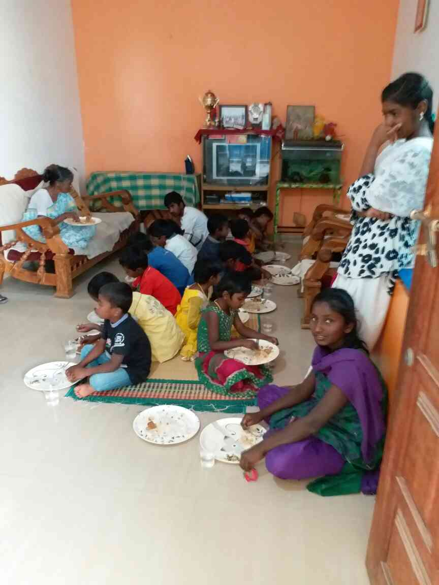 Food was provided on