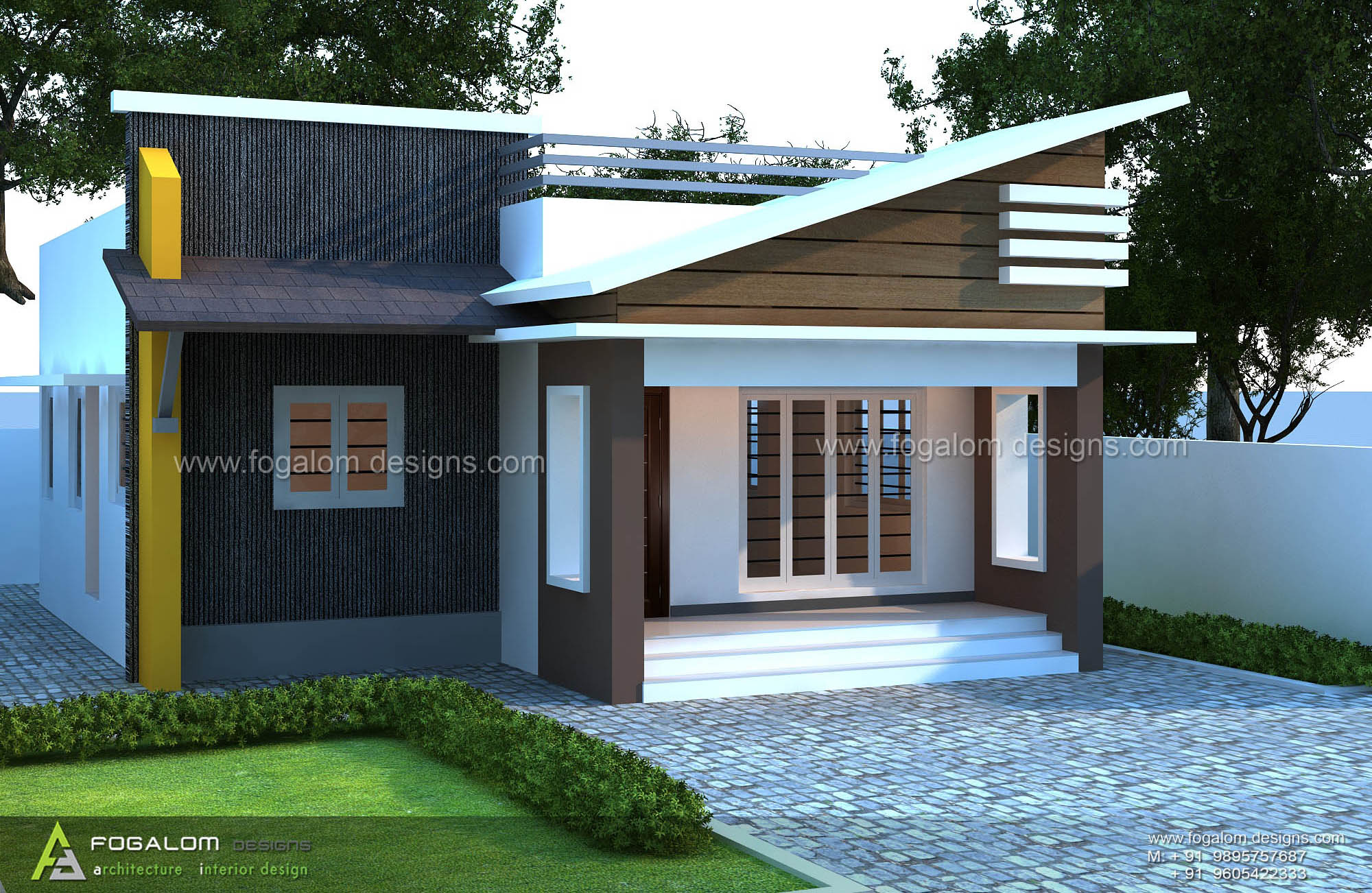 CONTEMPORARY   STYLE   BUDGET  HOME Project  : Residence  Area  : 830 sft  - 2 BHK Clint  : Genson @ Kumbalanghi , Kochi , Kerala  Designers  : Fogalom Designs  for more details : 9895757687 , 9605422333  visit our site here : www.fogalomdesigns.com
