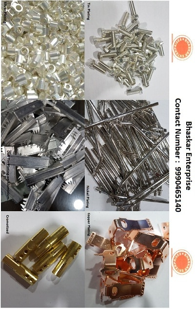 Bhaskar Enterprises is one of the leading manufacturer and supplier of all types of Electroplating Services Tin Plating, Tin Plating in Aluminium, Acid Tin Plating, Dull Tin Plating, Nickel Plating, Cooper Plating, Silver Plating, Alodine Coating   For More Details Contact Us on : 9990465140