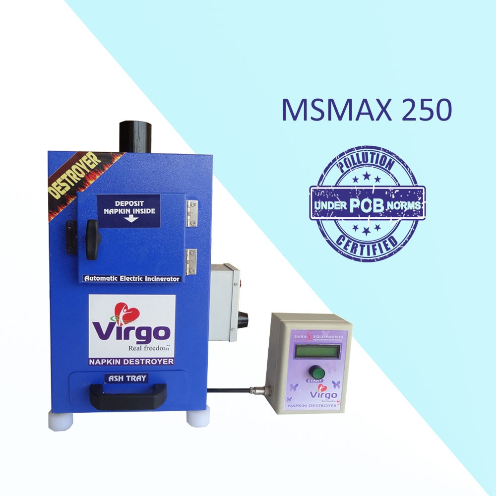 "Sanitary Napkin Disposal Machine Suppliers in Kerala   ""Sara Equipments"" manufactures Sanitary Napkin Incinerator Machine, Sanitary Napkin Destroyer Machine, Sanitary Napkin Burning Machine, Automatic Sanitary Pad Burning Incinerator Machine, Sanitary Pad Burning Machine, portable Sanitary Napkin Incinerator Machine, and Portable Sanitary Napkin Disposal Machine. The range starts from 40 pcs per day to 1200 Pcs per day. Above all Our Sara Napkin Incinerator Machine is fabricated under the Tamilnadu PCB Norms.   Advantages:  • Stress free for women  • Reduces plastic bag usage  • Avoid blockages in toilet plumbing  • Avoid waterway pollution  • Avoid drainage line chock up  • Saving water and healthy environment   Virgo Sanitary Napkin Disposal Machine Features:  • Wall mountable.  • Powder coated Mild steel / Stainless steel body  • LCD display with temperature and time indication  • Double wall ceramic board technology 'PUF' insulation  • Easy removing Ash collecting tray ensures cleanliness.  • Big door open makes it convenient to load used napkins.  • The heater of high power makes the temperature rise quickly and improves the efficiency.  • Double stage computer programmed control panel gives Long life for heater and reduce the electricity bill.  • Available with size of 50, 100, 200 and 500 napkins per day.   For more details or buy online, visit: https://www.youtube.com/watch?v=f3exiFKxmh8"