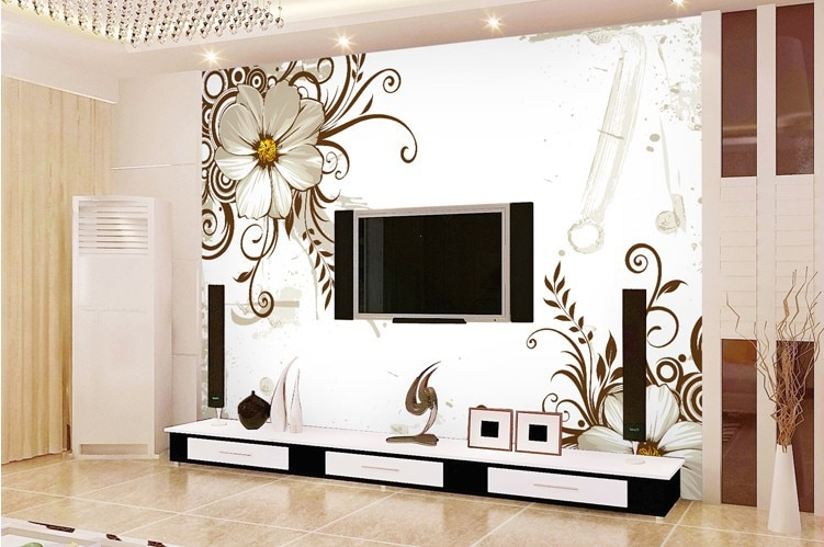 3d wallpaper designs for living room india nakicphotography for Bedroom wallpaper designs india