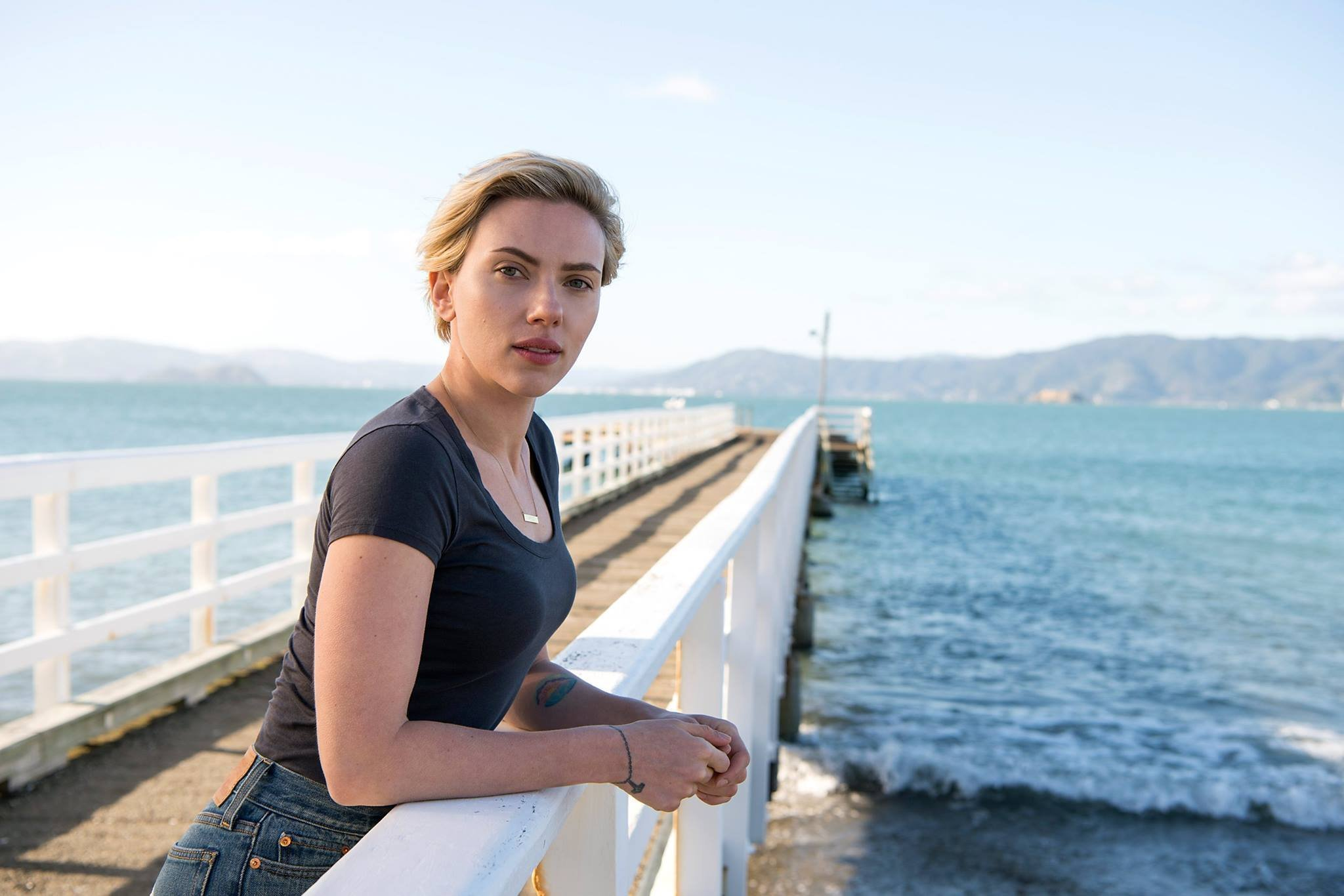 New Zealand with Scarlett Johansson.. Ghost in the shell Star..