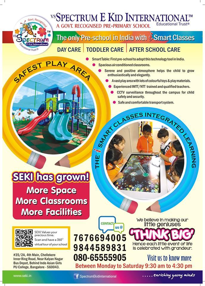 Best Preschools in near Chelekere Ring Road
