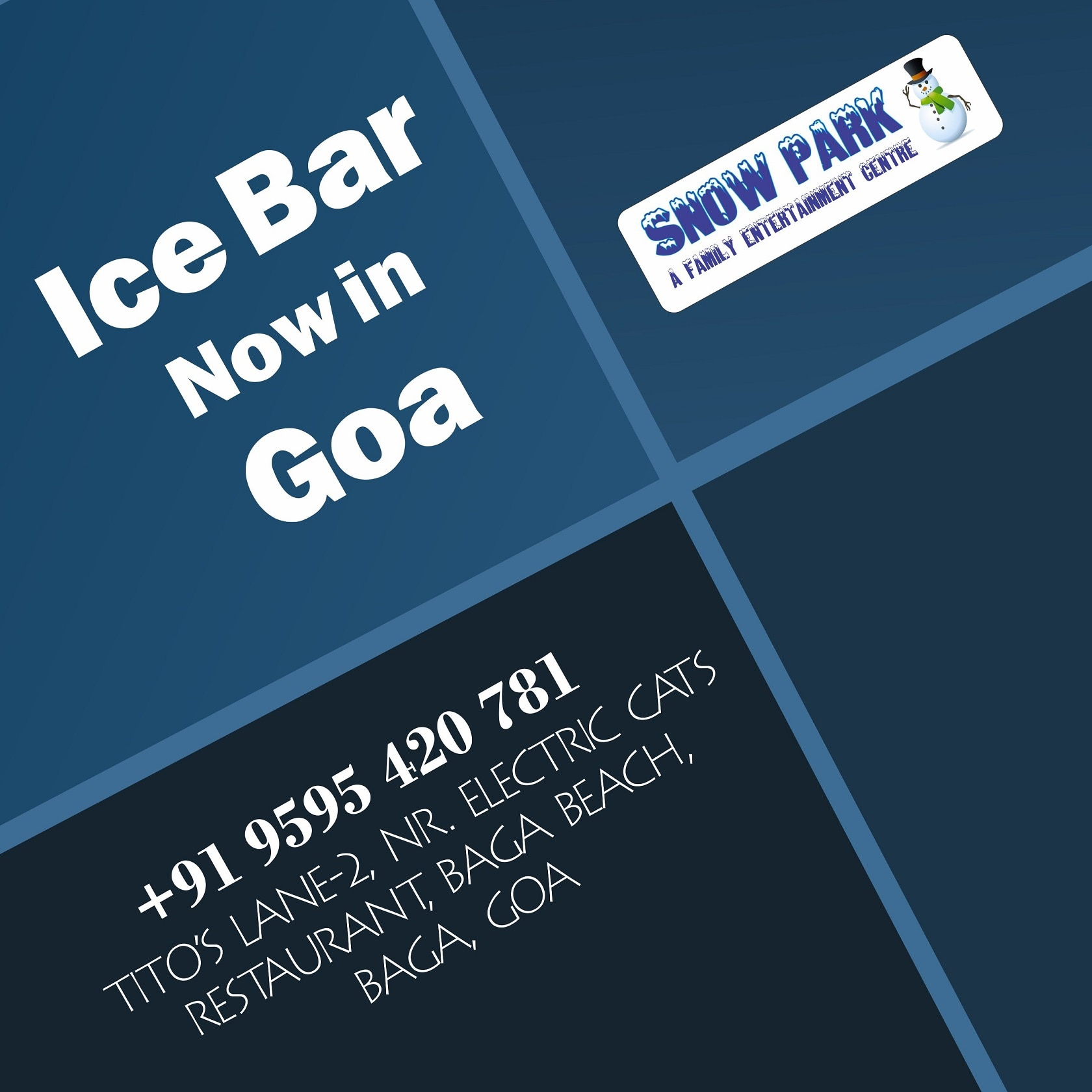 Time to run and play, have a snowball fight and dance! Bring your friends and family too #Snowpark #Goa
