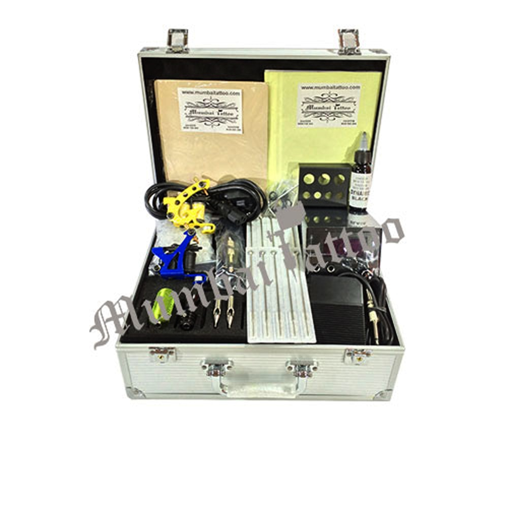 MUMBAI TATTOO SUPPLY  HOBBY TATTOO KIT Tattoo Hobby Kit for art enthusiast, who are learning tattoo and wants to take it as hobby or acquire basic skills, . Kit Contains Tattoo Gizmo own production machines comes with Six month limited warranty on Coils. The kit has been designed for people have limited budget but looking for good quality products. MRP - 6000/-RS