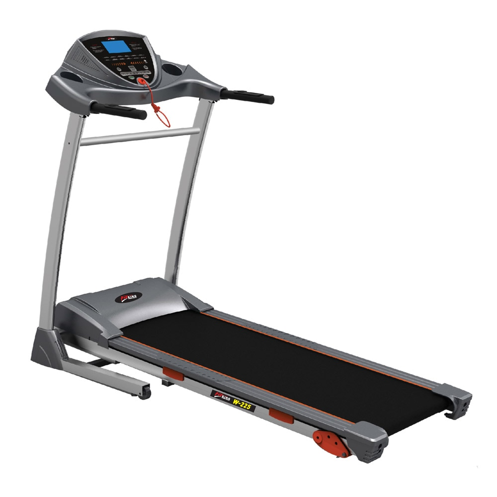 #MRP: 47750 #Selling_Price: 34050 (Inclusive of all taxes)  #Fitking_W_225 #DC_Motorised_Treadmill  #Brand_Name : #Fitking #Product_Code : #W225  #Key_Features:  * 2.25 hp dc high insulation motor. * Speed:1~14 km/h. * 3 position manual incline. * Belt area: 420 x 2440 mm. * 20 speed programs including 1 body fat program. * Ergonomically designed handle bar & durable frame structure with shock absorber system for ultimate running experience. * Exquisite control panel with big blue backlit lcd console display time, distance, speed, calories & pulse. * Great entertainment with built in mp3 speaker.  #Contact_us:  #Sales@smeerafitness.co.in #Mobile: 9714008256 #Address: FF-3/4, A-wing #Trident_Complex, #Racecourse_Circle, Vadodara, Gujarat, India - 390007. #www.smeerafitness.com