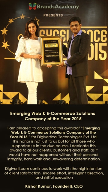 E-commerce Solutions Bangalore  Digivertical Technologies Private Limited Company provides e-commerce solutions located at Bangalore, India. It is the leading name in the sphere of e-commerce solutions which has won the award in the category Emerging Web & E-Commerce Solutions Company of the Year 2015.