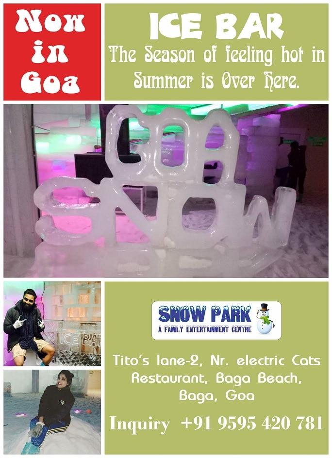 The Season of feeling hot in Summer is Over @ Snowpark #Goa #Icebar