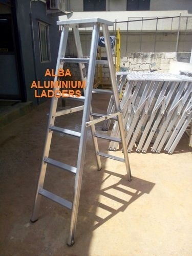 We are the manufacturers of Double Step Self Supported Ladders in hyderabad.These ladders are Non-Slip Corrugated Steps with Aluminium Firm Rigid & Chequered Platform on top fitted with solid Rubber shoes with four legs enabling one person handle. Available from 3 feet to 20 feet.  Features:  Quality product Highly reliable Excellent performance
