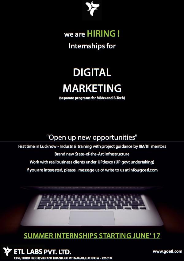 Summer internship! T