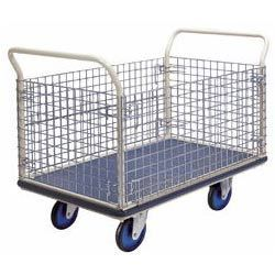 Manufacturer Of Box Trolley with Wire Mesh  With sincerity and hard work of our professionals, we have carved a niche for ourselves in this domain by offering optimum quality Box Trolley with Wire Mesh. The offered box trolleys are designed by our trained workers by under the direction of professionals by using supreme quality unfinished material and leading technology as per the set industry standards. Apart from this, the offered box trolleys are exactly examined on different quality parameters to guarantee its quality & durability. These box trolleys are offered at highly affordable price to the clients.