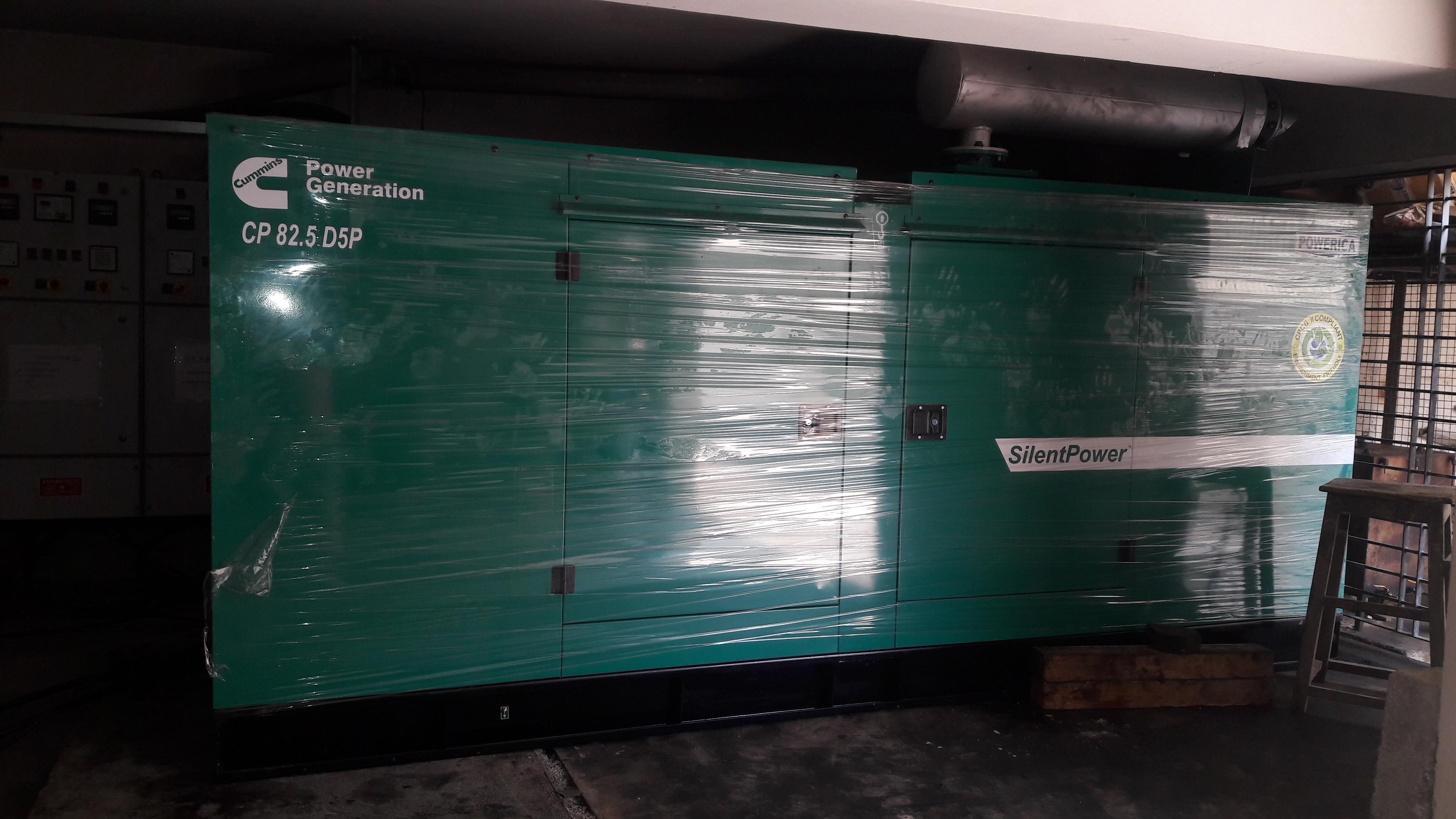 Supply erection an commissioning with Auto panel at Nagavara B'lore - 82.5kva Cummins DG set