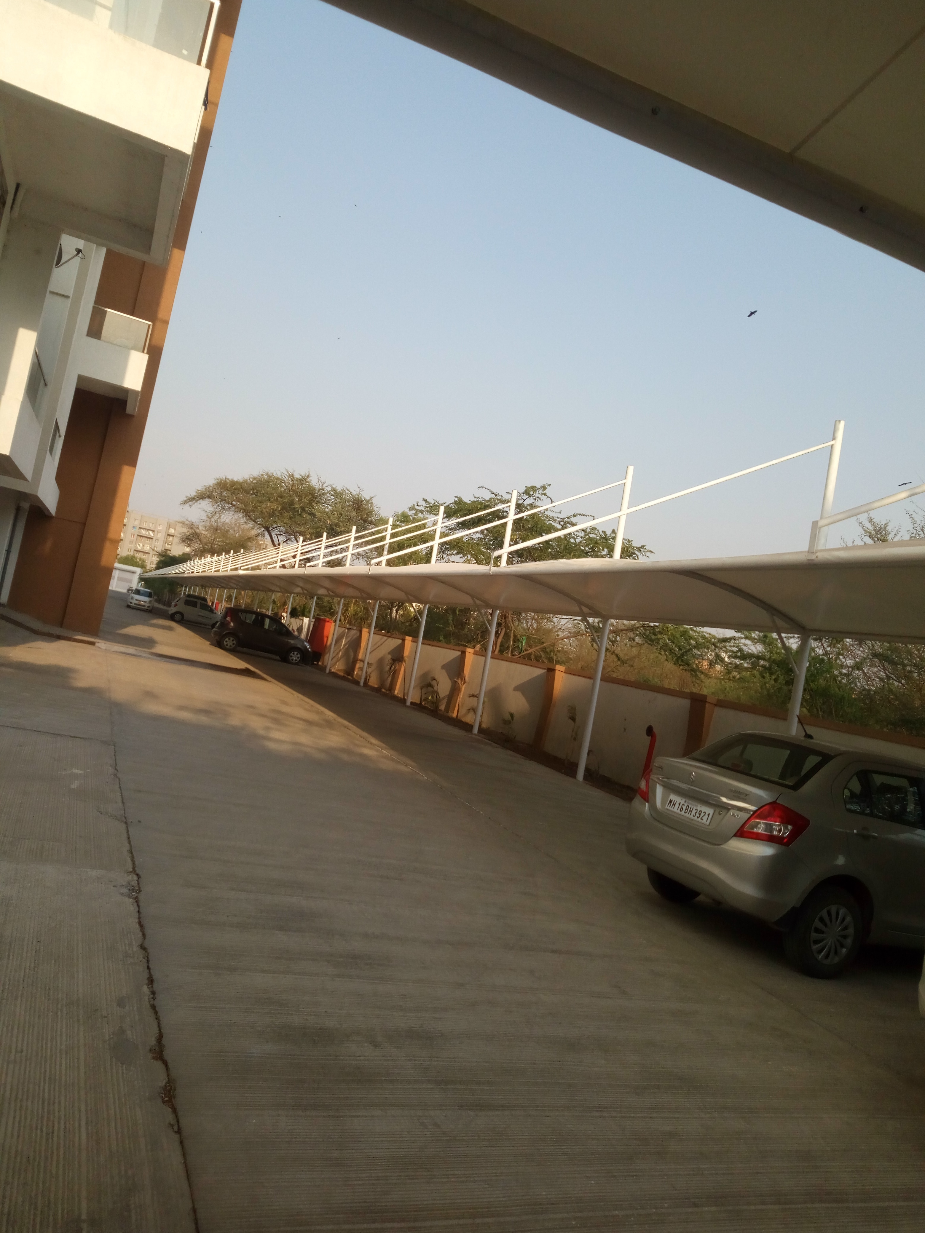 Tensile Car parking shade manufacturer  and supply and installation ,