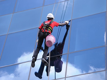 We understand that your commercial building is a sign of your social status and reputation. You are concerned about keeping your Facade as well as windows sparkling clean and maintained. We have a specially trained crew for Facade Cleaning who ensure that they work for all height levels and in all weather conditions, regardless of access difficulties, using rope access techniques and traditional ladder access. So take our Facade Cleaning Services for your prestigious buildings before they get extremely exposed to the ravages of environment and weather, such as rain, dust and, pollution.
