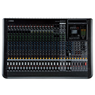 Yamaha 24-Channel Premium Mixing Console Mixing capability-24 Line Inputs (16 mono and 4 stereo) GROUP4 GROUP Buses + ST Bus AUX6 AUX Sends + 2 FX Sends MATRIX1 Matrix out On-board processorsFX1:REV-X(8 PROGRAM, PARAMETER control)/ FX2:SPX(16 PROGRAM, PARAMETER control) I/OMic inputsMIC: 16 (INPUTS HPF: 100Hz 12dB/oct) Phantom power48V phantom power per channel Line inputsLINE: 16 mono + 4 stereo, CH INSERT: 16 RETURN: 1 stereo Digital I/OUSB Device, iPod / iPhone