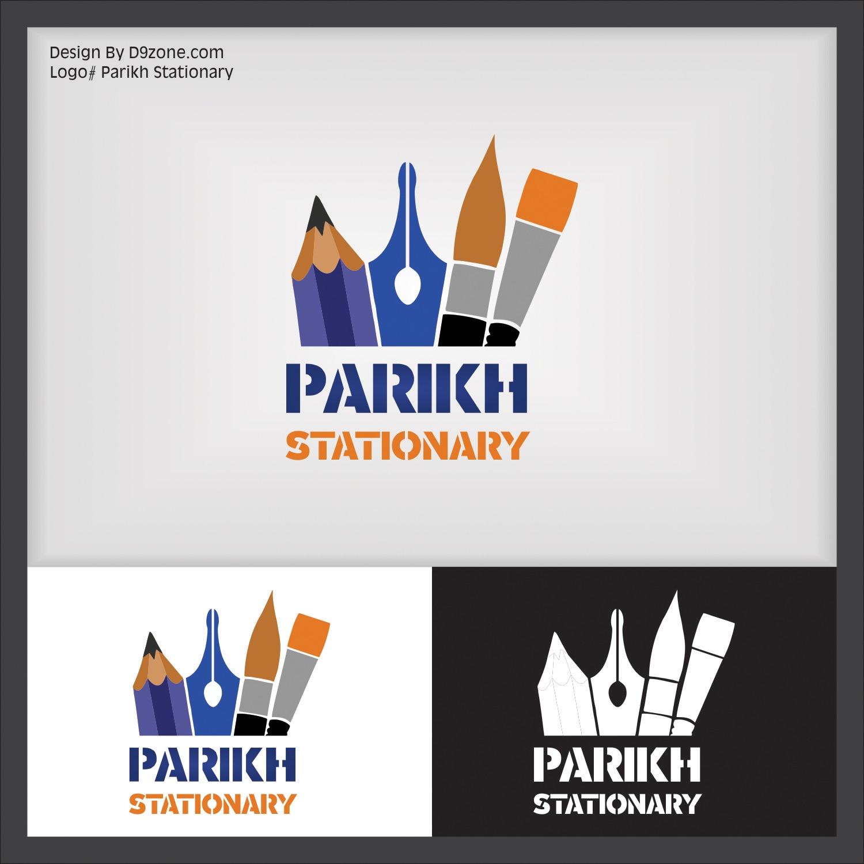 #Artistic Logo Designer for #Stationary Shop, Ahmedabad   #CreativeAdvertisement  #BrochureDesign-Print Creative Graphic Designer #Corporate Identity Design D9zone.com | 7383333399