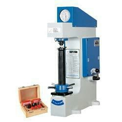 Keeping in mind the ever-evolving requirements of our precious clients, we are engaged in manufacturing, trading, exporting and supplying an exclusive range ofRockwell Hardness Tester. The provided Rockwell Hardness Tester is widely used for measuring hardness of metals & alloys of all kinds, hard or soft whether round, flat or irregular in shapes. This Rockwell Hardness Tester is highly demanded among our clients for its high performance and excellent functionality.   We are leading manufacturers of Rockwell Hardness Tester machine in Vadodara, Gujarat, India.  We are leading suppliers of Rockwell Hardness Tester machine in Gujarat, India.