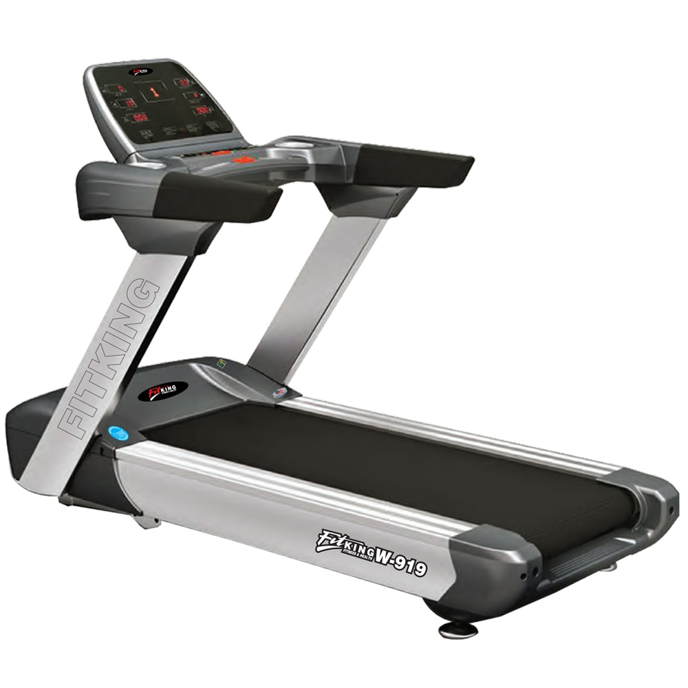 #MRP: 229750 #Selling_Price: 183800  #Fitking_W_919_AC_Motorised_Treadmill  #Brand_Name : Fitking #Product_Code : W 919  #Key_Features:  * Large sturdy foot plate with durable linear bearing mechanisms to regulate the load throughout the exercise and to ensure the correct muscles are targeted. * Intelligent ergonomic design with adjustable back support pad. * Ergonomics neoprene handle designed for maximum control and efficiency. * Hand grips secured in place with aluminum collars, comprised of an extruded rubber compound that is non absorbing and wear resistant.  #Contact_us:  #Sales@smeerafitness.co.in #Mobile: 9714008256 #Address: FF-3/4, A-wing #Trident_Complex, #Racecourse_Circle, Vadodara, Gujarat, India - 390007. #smeerafitness.com