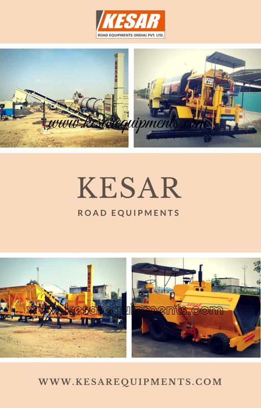 Kesar Road Equipments Manufacturer Of Asphalt  Road Construction  Equipments At Mehsana, Gujarat, India.  www.kesarequipments.com