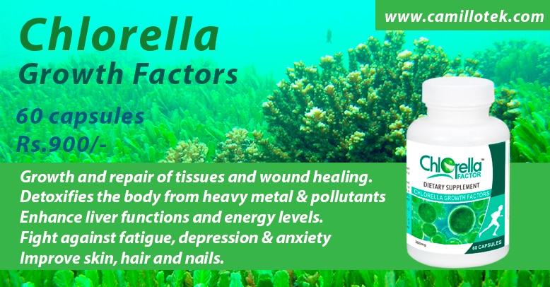 Chlorella detoxifies the body from heavy metal and pollutants.  more info :  http://camillotek.com/all/chlorella.html  buy now : https://www.payumoney.com/store/buy/camillotek005  Superfood chlorella, bioavailable organic chlorella supplements, purest chlorella capsules,