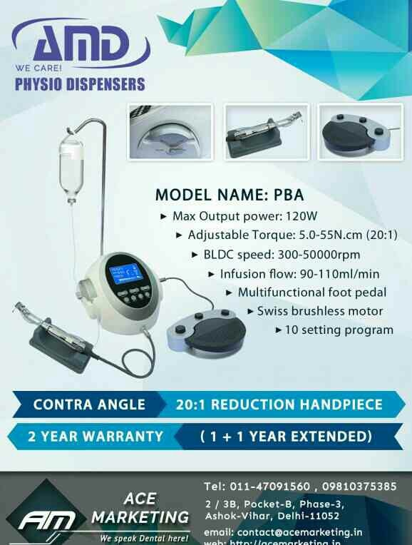 AMD is one Of The Best Physiodispenser In India   AMD is a well known Premium Brand Of Equipment available in India for past Two Years. Ace Marketing is promoting AMD Physiodispenser in India   AMD & COXO have joined hands in selling Physio Dispenser In  India  AMD Physiodispenser Are The Cheapest Implant Motor has the most Smart Design
