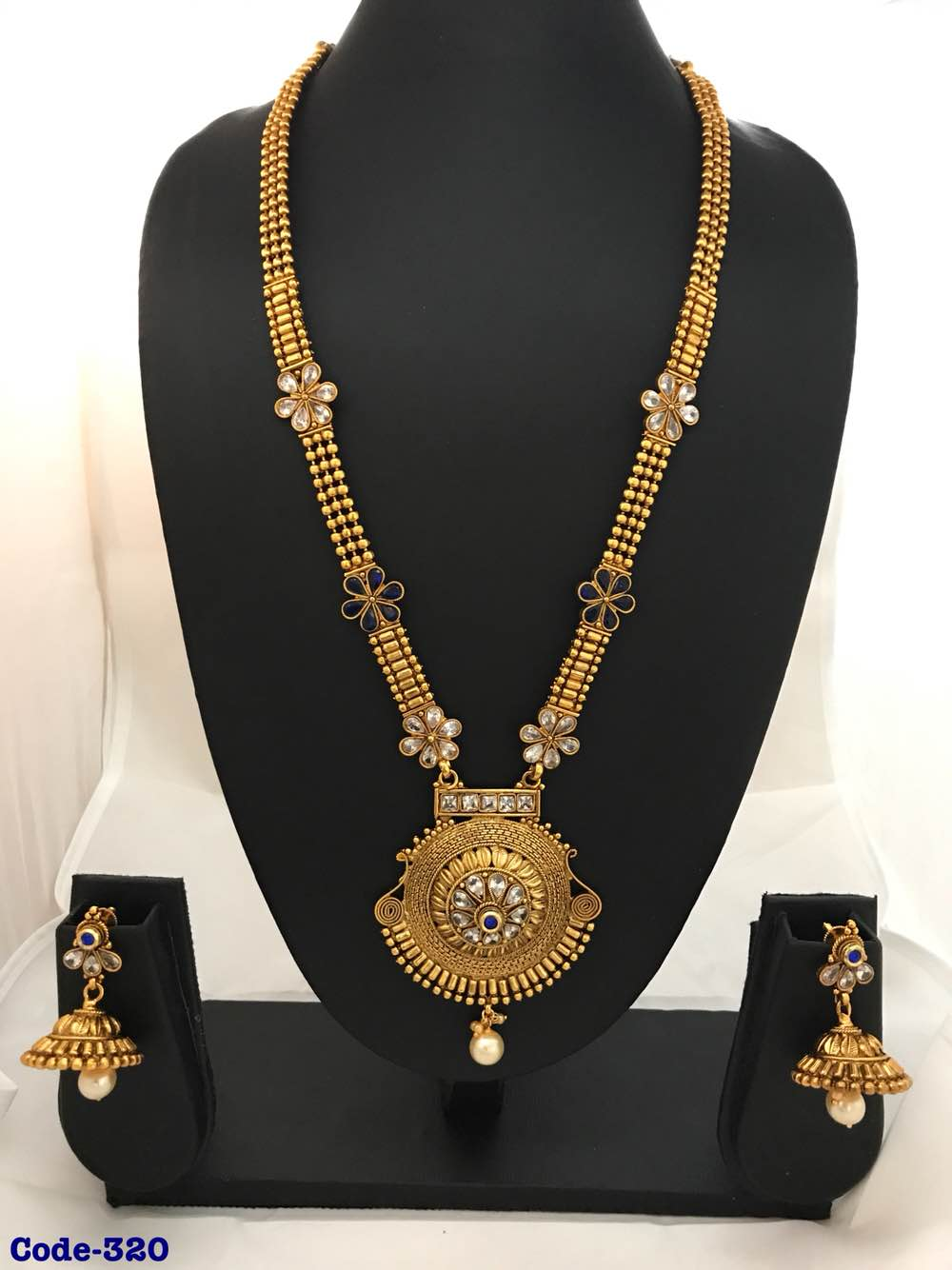 Long necklace indian jewellery indian polki jewellery traditional jewellery jewellery at wholesale price manufacturing in malad expoter Mumbai wholesale market Malad wholesale market Jewellery wholesale market Indian fashion jewellery market Traditional jewellery wholesale market