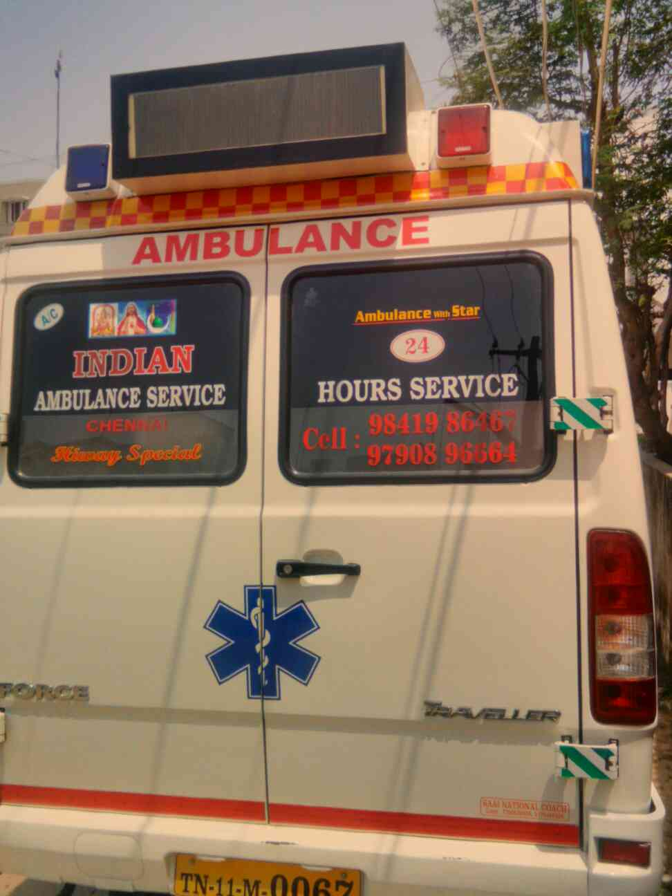 Indian ambulance service provide good 24 hours  service  & All over India