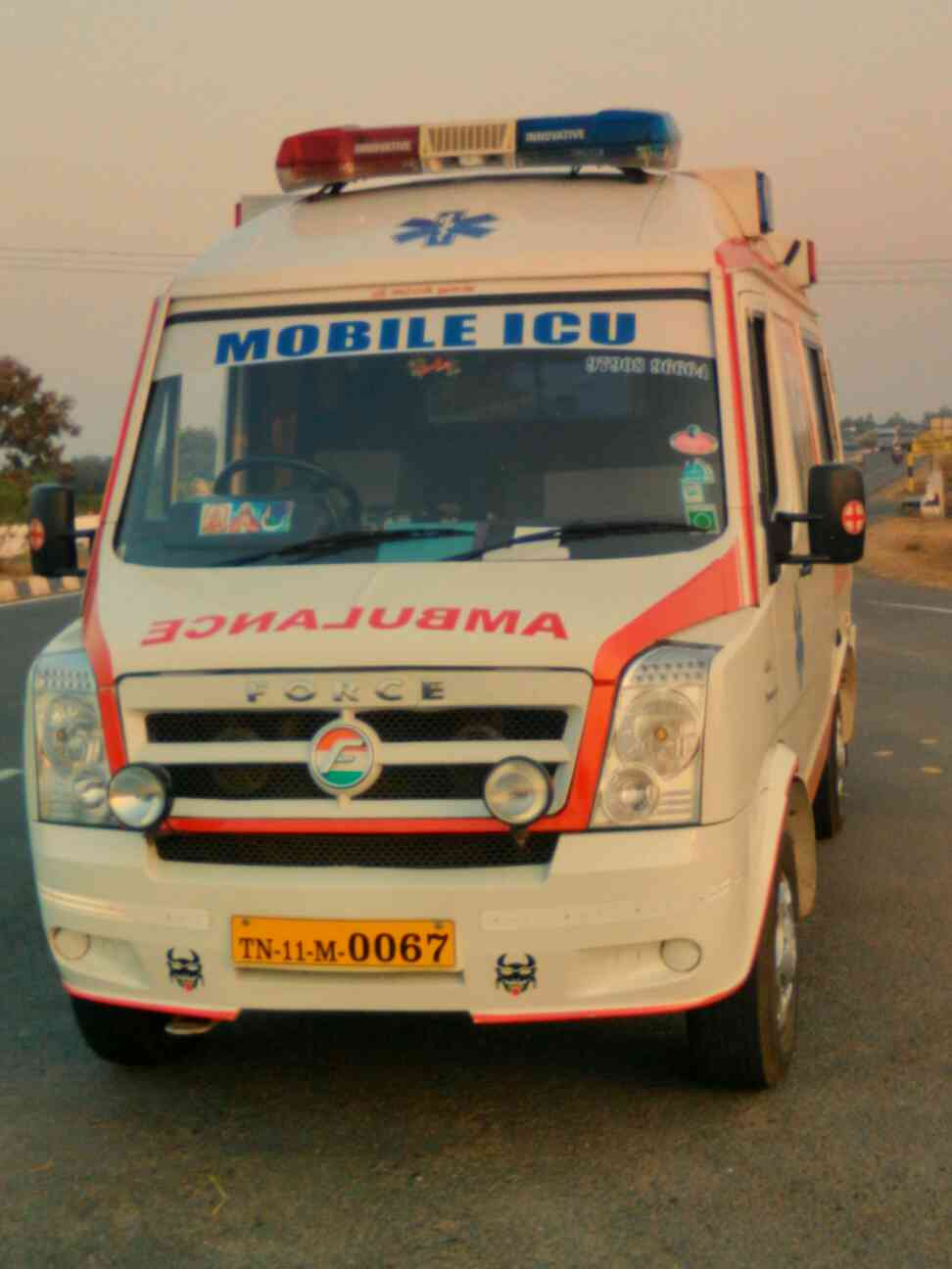 Indian ambulance service Chennai oll over India