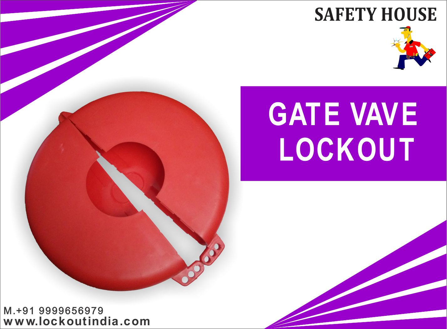 Gate valve  lockout  devices manufacture in Delhi India .we are supplying different types of LOTO product like. universal valve lockout, handle lockout, cable lockout, lockout padlock, snap on breaker lockout, lockout tagout, mcb lockout, pneumatic lockout etc.