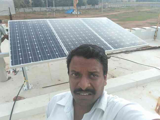 Powerful morning and happy day to all,  I Installed a Solar Ups and Solar batteries with panels that support all lights for 24/7 in Sri Shirdi Sai Baba temple at Meluru near Nandi Hill