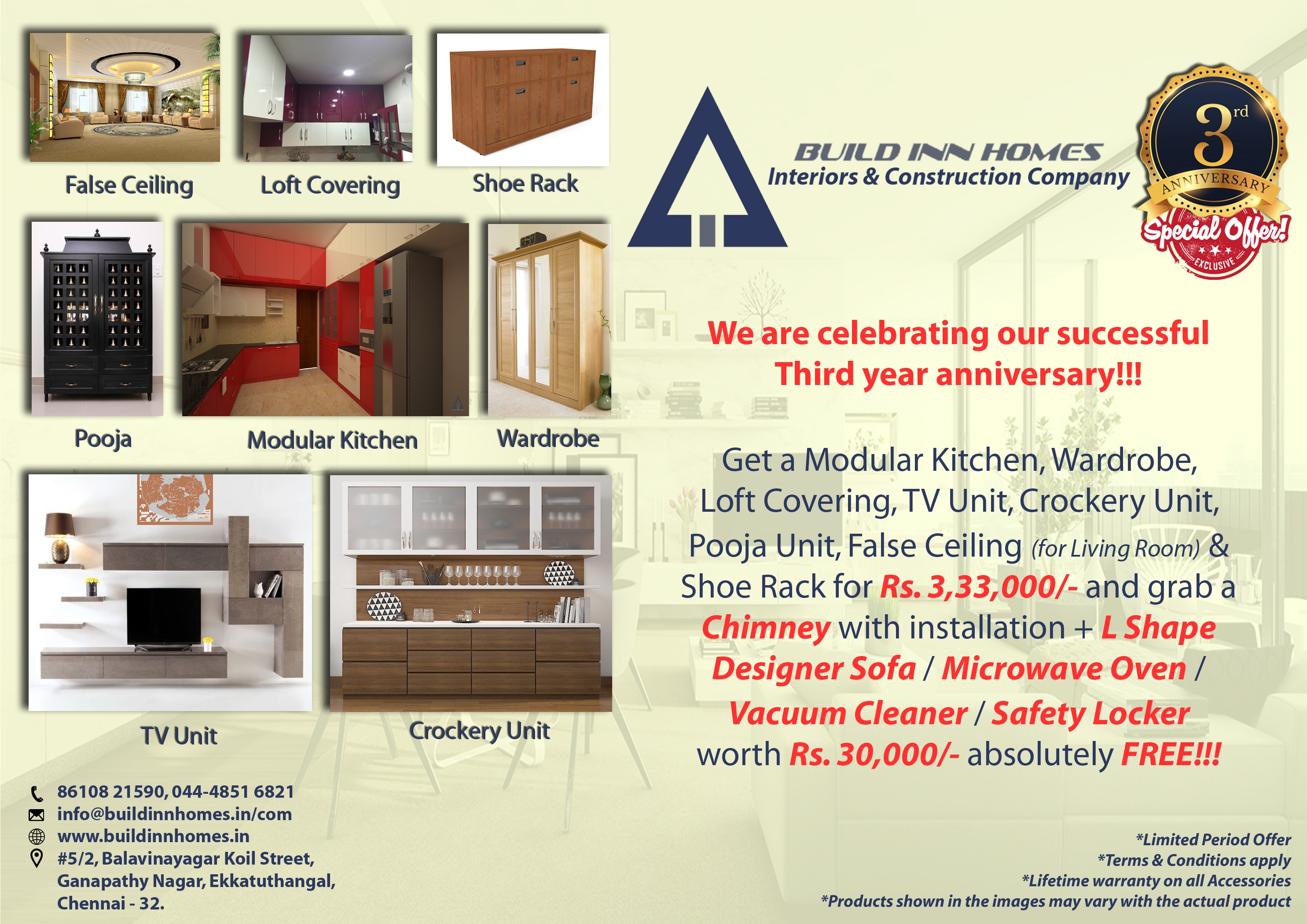 BUILD INN HOMES Interior Designing Company Now Provides