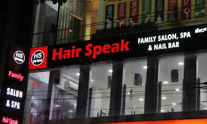 HAIR SPEAK unisex salon offers its customers the best services in beauty and hair care making it one of the best Salons in Bangalore.Also offers its customers the best services in beauty and hair care making it one of the best Salon.In our  Salons have the expertise to create any hairstyle that our client desires, Find our Salons locations near by you