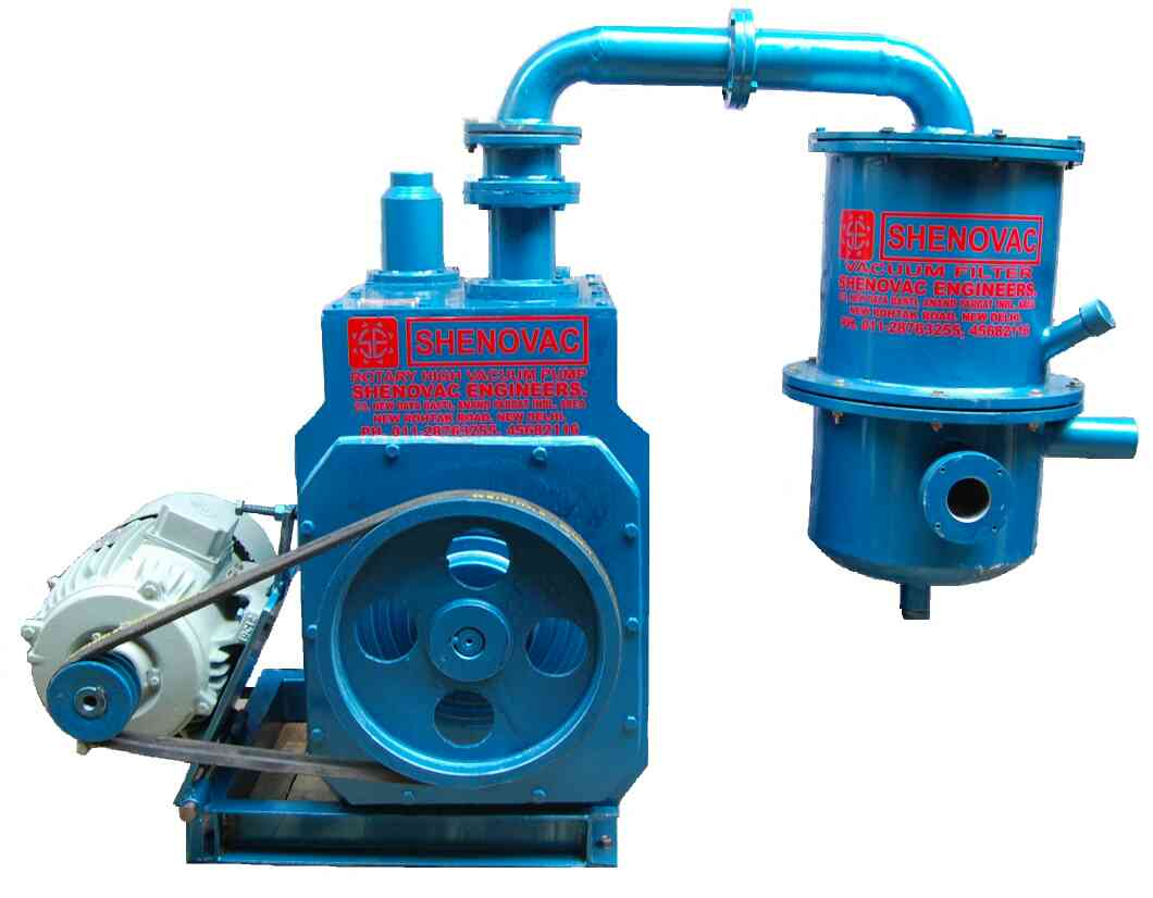 Industrial Vacuum Pump  we have a wide range of industrial Vacuum pumps. these pumps are made with high quality raw materials like grade casting EN-8 shafts, bearings , steel springs and viton oil seals. these Vacuum pumps  capacity  starts from 50Lpm to 7500lpm. (electric power .25hp to 10 HP.).  these pumps are specially made for Chemical plants , and Distillation Units.  we are the Manufacturer of Industrial Vacuum Pumps in New Delhi  SHENOVAC ENGINEERS NEW DELHI  ASHOK KUMAR  +91-9810480220  ADARSH SURYAN(SALES)  +91-9818347008